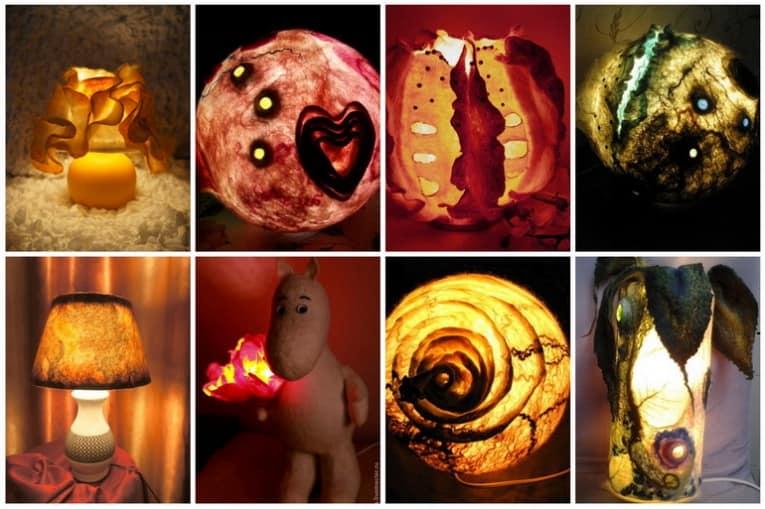 Красивые войлочные светильники, сделанные своими руками