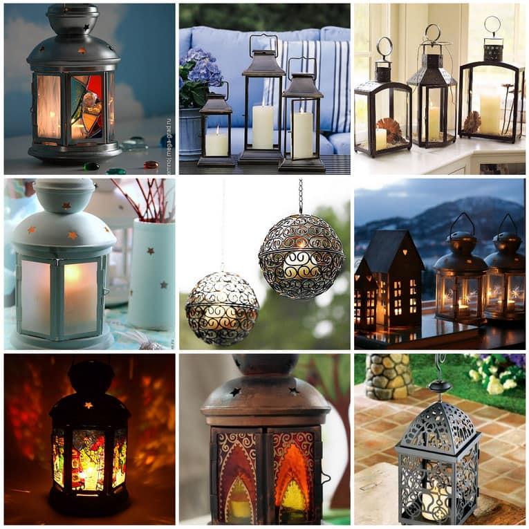 Фото свечных фонариков, которые можно сделать своими руками или украсить купленные в магазине