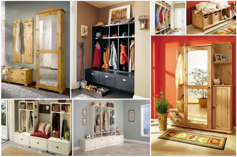Как повесить и сложить вещи в прихожей - идеи со шкафами