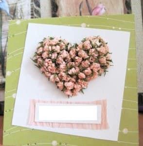 Открытка с розами на 14 февраля - как сделать