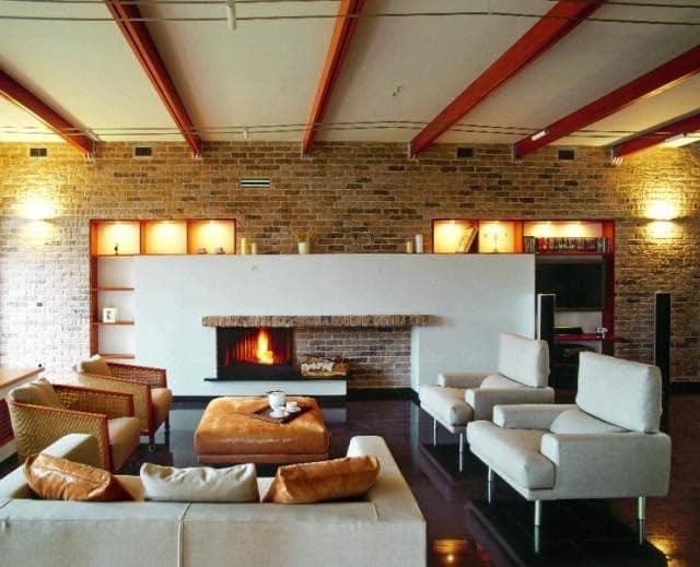 Уютный светильники в гостиной фото