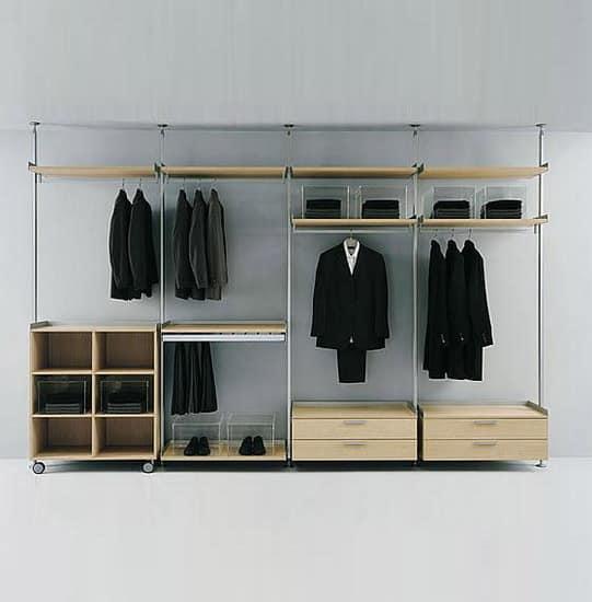 Компактное решение для гардеробной в спальне