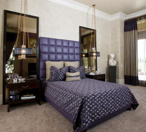 Высокие ростовые зеркала в спальнях