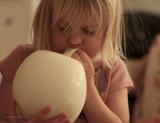 Надуваем до нужного размера шарик