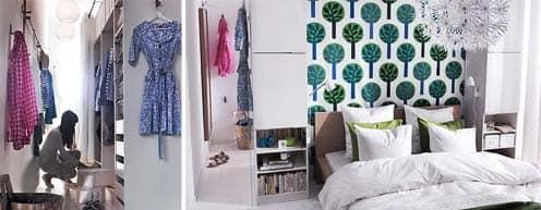 Гардеробная в спальне: вариант от IKEA