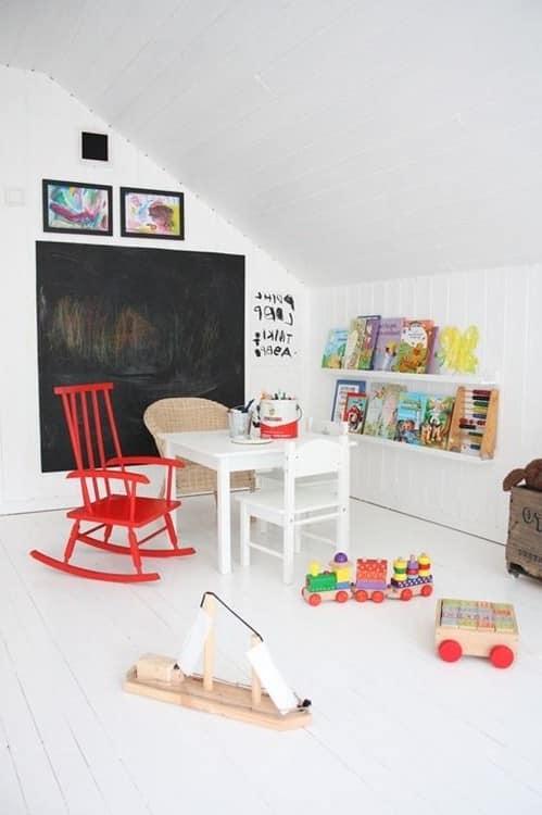 Игровая комната для ребенка на чердаке