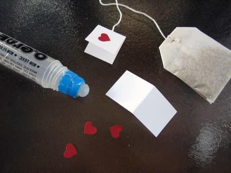 Декор обычных пакетиков чая к 14 февраля