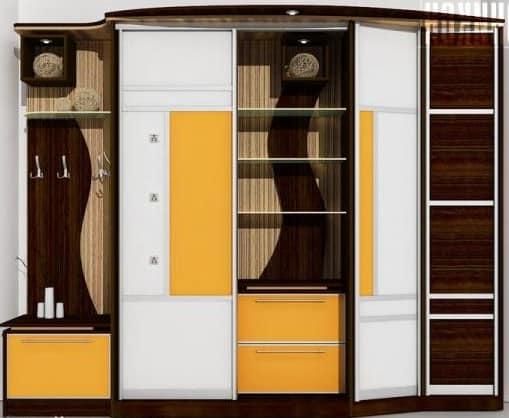 Шкаф купе - решения для хранения в прихожей