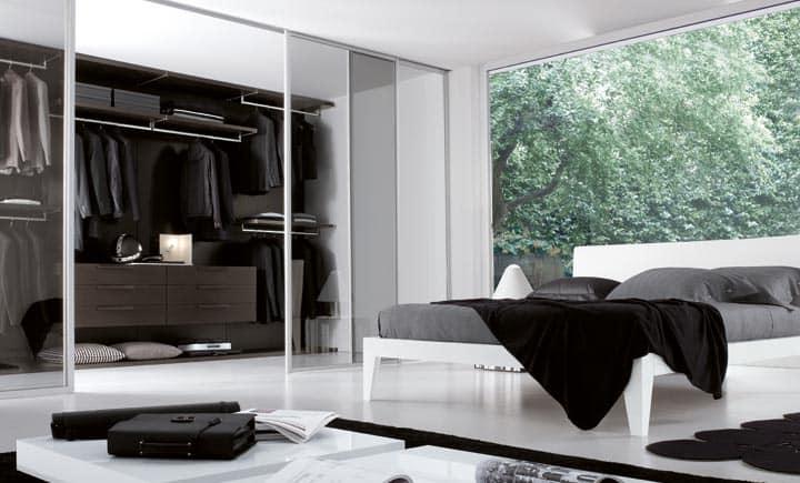 Единый стиль декора спальни и гардеробной