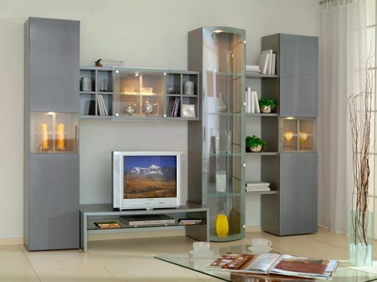 Подсветка ниш и элементов для hi-tech гостиной
