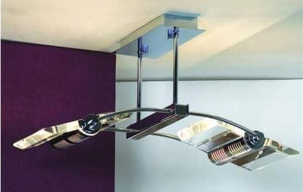 Строгий подвесной светильник из металла
