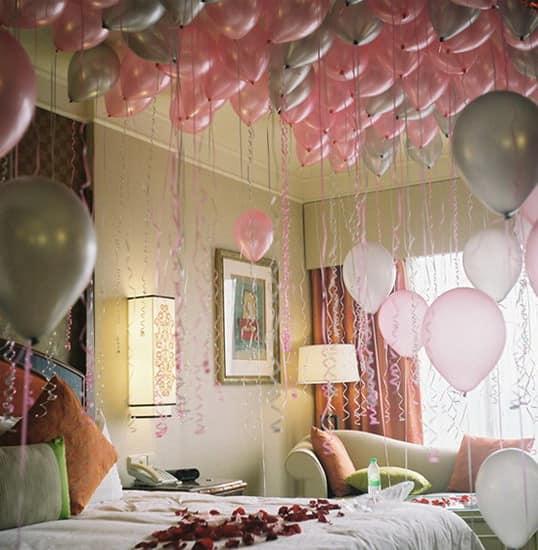 Украшаем дом воздушными шариками на 14 февраля