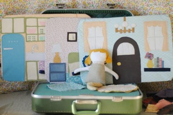 Кукольный домик своими руками из старого чемодана