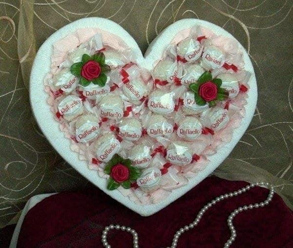 Мастер класс: сердце из конфет в подарок на 14 февраля