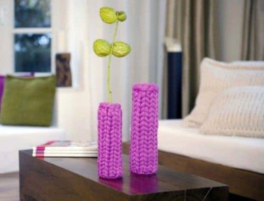 Вяжем яркие вазочки своими руками