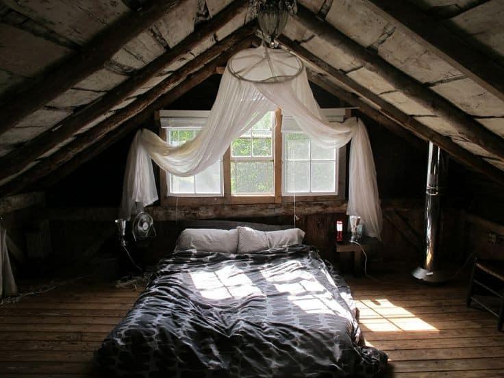 Комната на чердаке под крышей фото своими руками