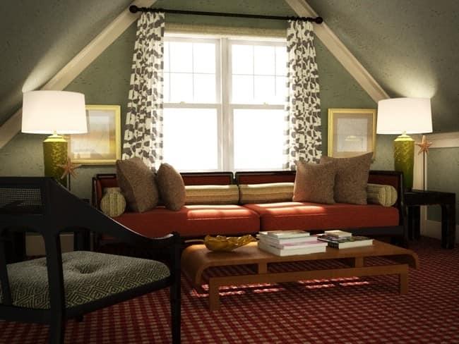 Как сделать уютную комнату под крышей