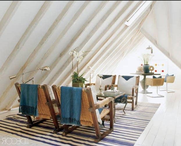 Как можно сделать комнату под крышей