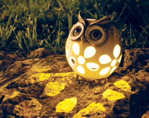 Светильник-сова для сада