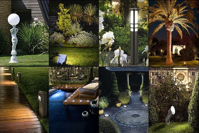 Варианты и идеи садовых светильников фото