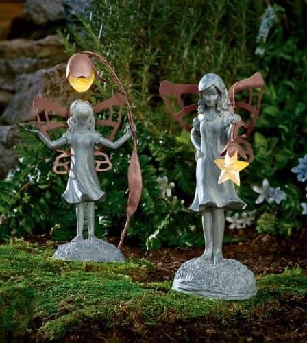 Садовые фигурки и светильники