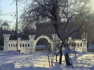 Ледяные стены и арка