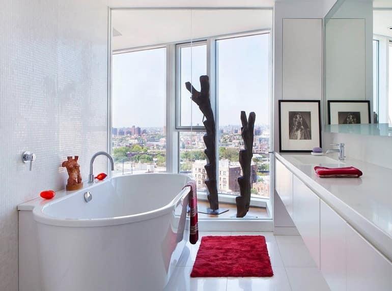 Ванная комната в апартаментах в Бруклине