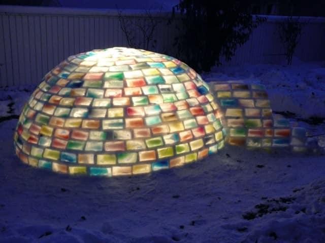 Строим ледяную иглу с ночной подсветкой - мастер-класс