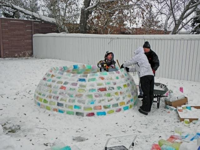 Уменьшаем диаметр стены, чтобы сделать крышу