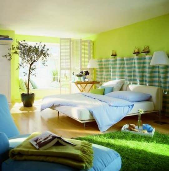 Интерьер с оттенками зеленого цвета