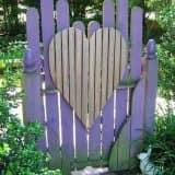 Калитка: сердце в ладонях