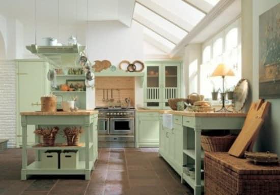 Формление кухни кантри прованс