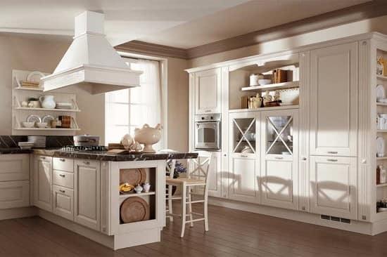 Белая кухня кантри стиль