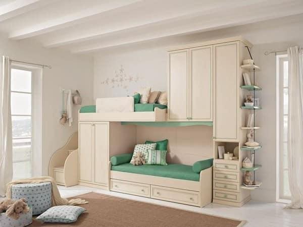 детская комната для двух трех и четырех однополых или разнополых детей