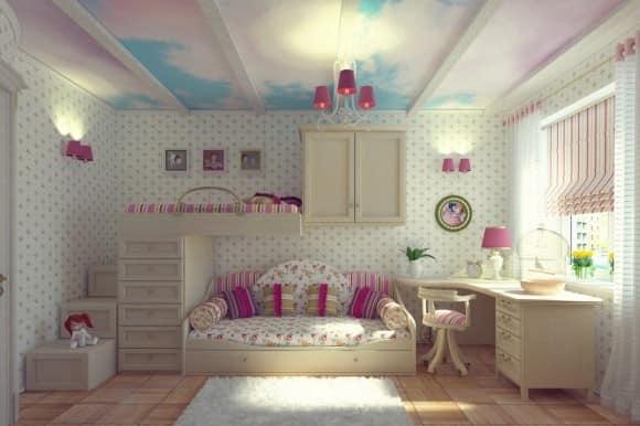 Кровать диван для спальни девочки
