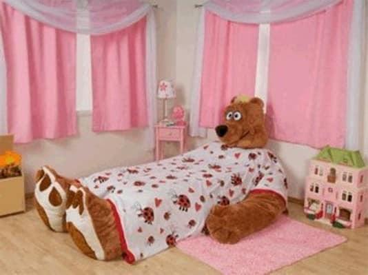 Кровать в виде медведя для девочки