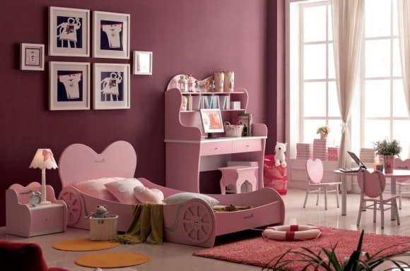 Детская кровать для девочки с бортиками фото