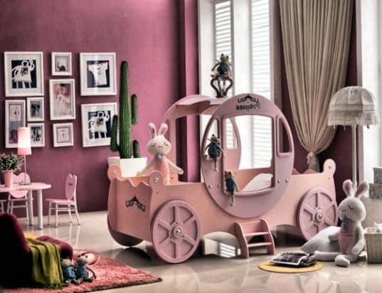 Кровать в виде кареты для девочки фото