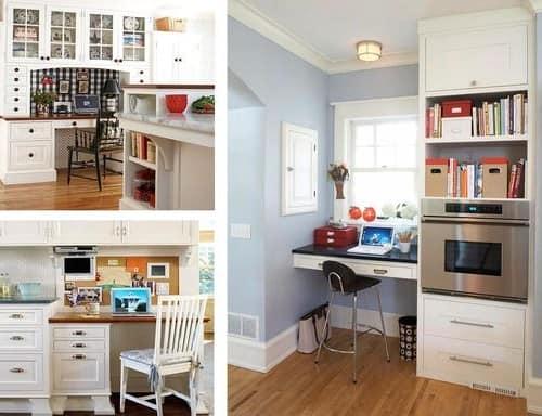 Фото домашнего офиса на кухне