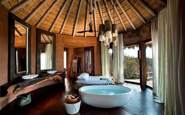Ванная комната на вилле Leobo Private Reserve
