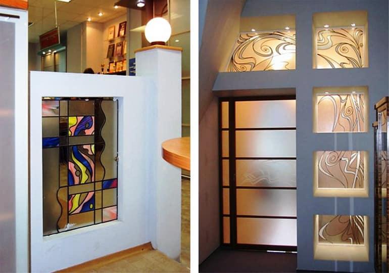 Декор витражами мебели и предметов интерьера