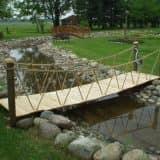 Самодельный садовый мост