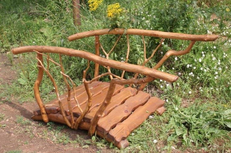 Садовый мостик своими руками фото