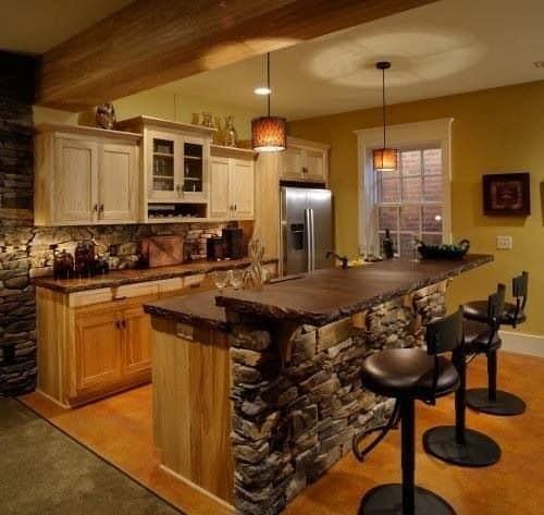 Превращаем остров на кухне в барную стойку фото