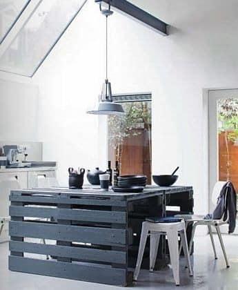 Остров на кухне своими руками из палетт фото