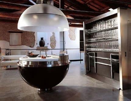 Остров на кухне в стиле модерн