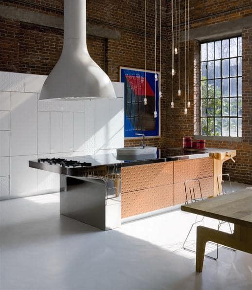 Остров на кухне с плитой и вытяжкой фото