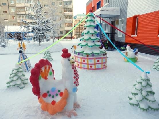 Как слепить петуха из снега своими руками к Новому году