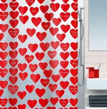 Романтичная шторка - если не нравится плитка в ванной