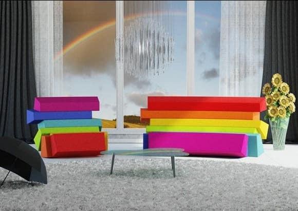 Оригинальный многоцветный диван